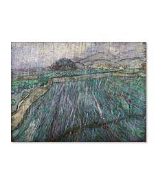 """Van Gogh 'Rain' Canvas Art - 47"""" x 35"""" x 2"""""""