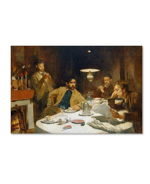 "Trademark Global Willard Metcalf 'The Ten Cent Breakfast' Canvas Art - 24"" x 16"" x 2"""