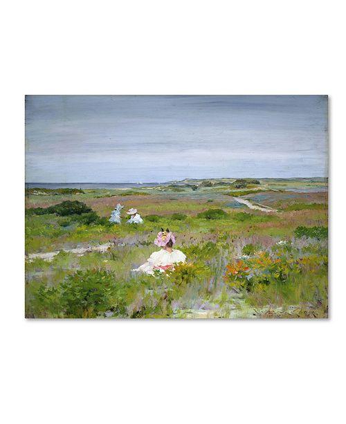 "Trademark Global William Merritt Chase 'Shinnecock Long Island' Canvas Art - 24"" x 18"" x 2"""