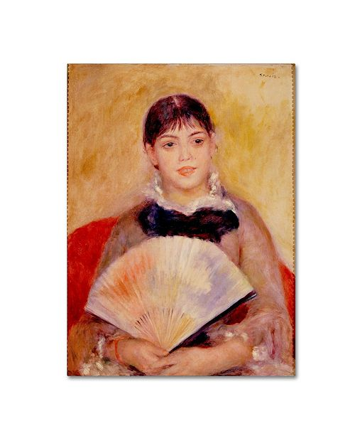 "Trademark Global Renoir 'Girl With A Fan' Canvas Art - 24"" x 18"" x 2"""