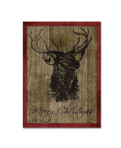 "Trademark Global Jean Plout 'Merry Christmas' Canvas Art - 24"" x 18"" x 2"""