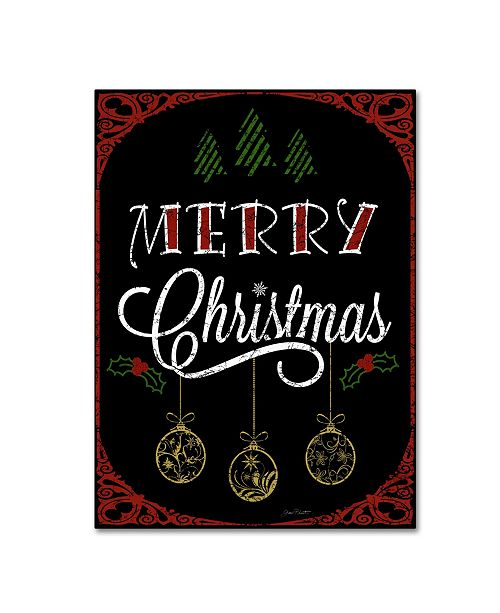 "Trademark Global Jean Plout 'Merry Christmas No Glitter' Canvas Art - 47"" x 35"" x 2"""
