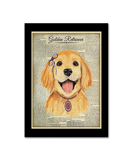 """Trademark Global Jean Plout 'Golden Retriever' Canvas Art - 32"""" x 24"""" x 2"""""""
