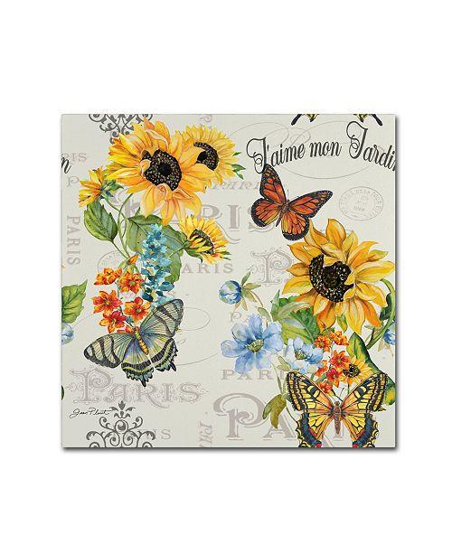 "Trademark Global Jean Plout 'Jaime mon Jardin 2' Canvas Art - 14"" x 14"" x 2"""