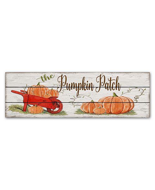 """Trademark Global Jean Plout 'Pumpkin Patch 1' Canvas Art - 47"""" x 16"""" x 2"""""""