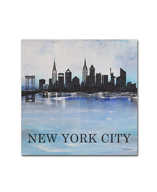 "Trademark Global Jean Plout 'Misty Blue 3' Canvas Art - 35"" x 35"" x 2"""