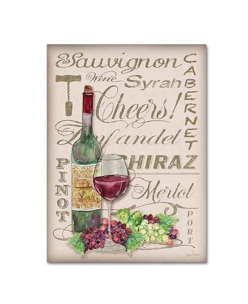 "Trademark Global Jean Plout 'Cheers Wine Art 2' Canvas Art - 47"" x 35"" x 2"""