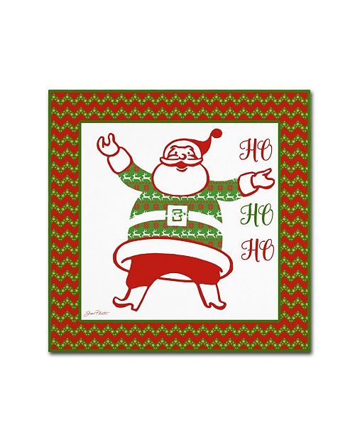 "Trademark Global Jean Plout 'Ugly Christmas Sweater Santa 2' Canvas Art - 14"" x 14"" x 2"""