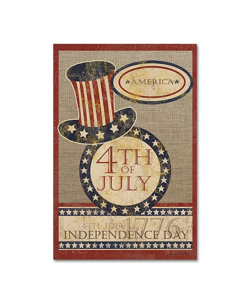 """Trademark Global Jean Plout '4Th Of July Flag' Canvas Art - 24"""" x 16"""" x 2"""""""