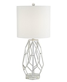 Metal Cage with Crystal Base Table Lamp
