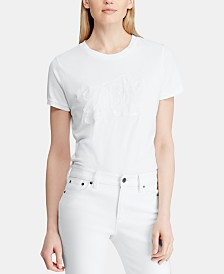 Lauren Ralph Lauren Petite Logo Graphic Cotton T-Shirt