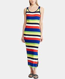 Lauren Ralph Lauren Petite Striped Cotton Dress