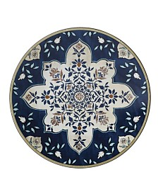 Lenox Global Tapestry Sapphire Mandala Accent/Salad Plate