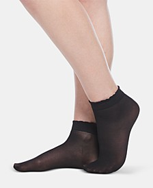 3-Pk. Scalloped Shorty Anklet Socks