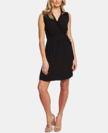 CeCe Ruffled Wrap Dress