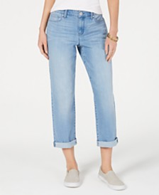 Style & Co Petite Curvy-Fit Boyfriend Ankle Jeans, Created for Macy's