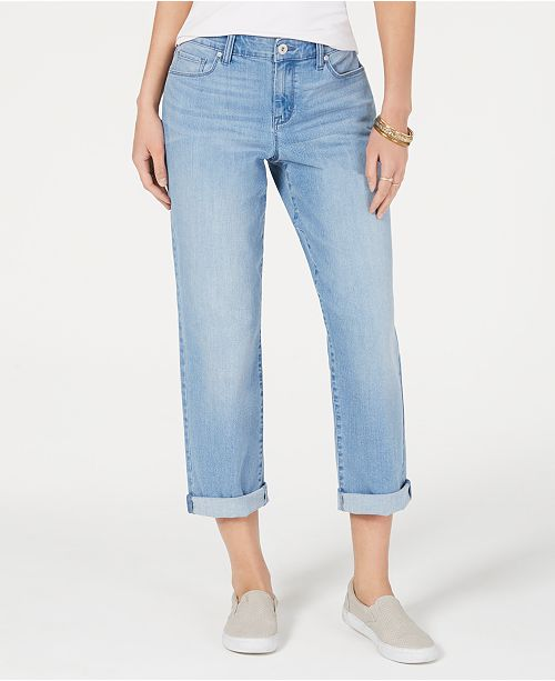 520cd4c2 ... Style & Co Curvy-Fit Cuffed Boyfriend Jeans, Created for Macy's ...