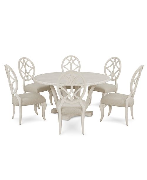 Jasper County Dogwood Round Dining Furniture, 7-Pc. Set (Table & 6 Side  Chairs)