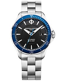 LIMITED EDITION Baume & Mercier Men's Swiss Automatic Clifton Club Stainless Steel Bracelet Watch 42mm With Additional Strap, Created for Macy's