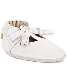Robeez Baby Girls Meghan White Soft Sole Shoes