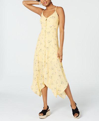 Trixxi Juniors' Floral-Print Maxi Dress