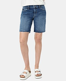 The 7 Raw-Hem Denim Bermuda Shorts