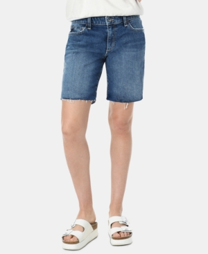 Joe's Jeans Shorts THE 7 RAW-HEM DENIM BERMUDA SHORTS