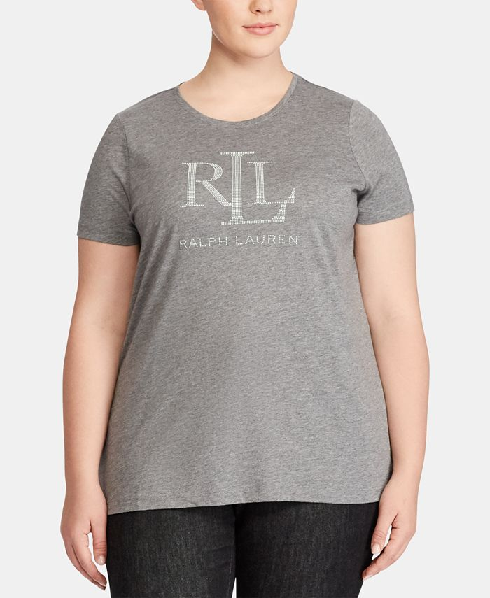 Lauren Ralph Lauren - Plus Size Slim-Fit Jersey T-Shirt