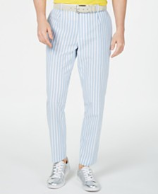 I.N.C. Men's Bold Seersucker Slim-Fit Pants, Created for Macy's