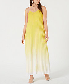 Bar III Pleated Ombré Maxi Dress, Created for Macy's