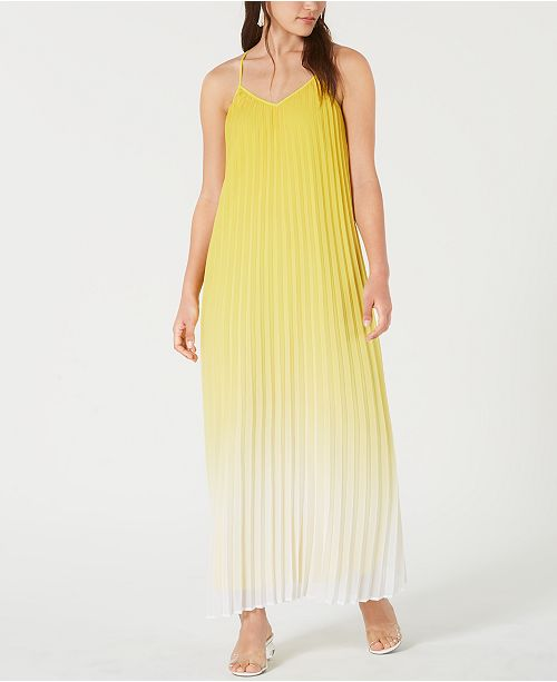 Bar III Pleated Ombré Maxi Dress, Created for Macy's