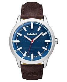 Men's Harwinton Dark Brown/Silver/Blue Watch