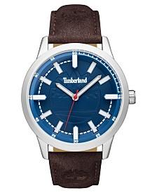 Timberland Men's Harwinton Dark Brown/Silver/Blue Watch