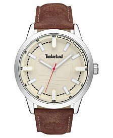 Timberland Men's Harwinton Brown/Silver/Cream Watch