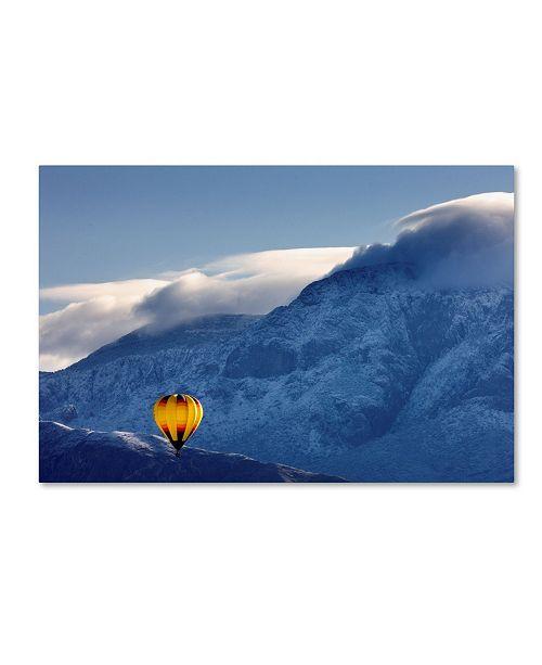 "Trademark Global Mike Jones Photo 'Balloon Fiesta Snow' Canvas Art - 32"" x 22"" x 2"""
