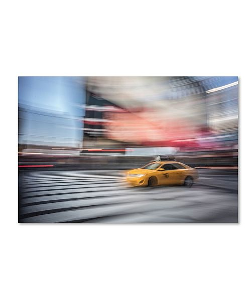 """Trademark Global Moises Levy 'Lonely Cab' Canvas Art - 24"""" x 16"""" x 2"""""""
