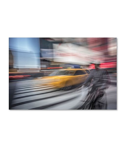 "Trademark Global Moises Levy 'Cab 3' Canvas Art - 24"" x 16"" x 2"""