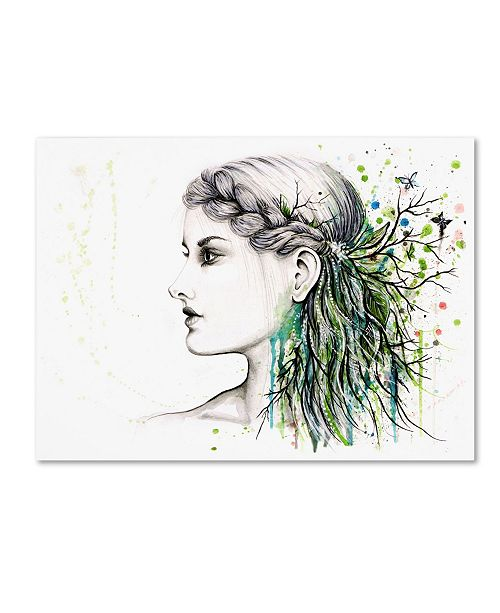 "Trademark Global Michelle Faber 'Forest Lover Girl Portrait' Canvas Art - 19"" x 14"" x 2"""