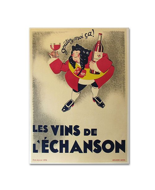 """Trademark Global Vintage Apple Collection 'French Wine' Canvas Art - 32"""" x 24"""" x 2"""""""