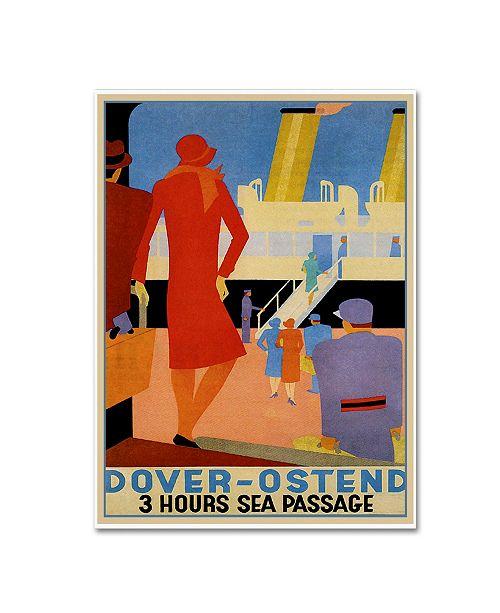 "Trademark Global Vintage Lavoie 'Travel Ship 133' Canvas Art - 32"" x 24"" x 2"""
