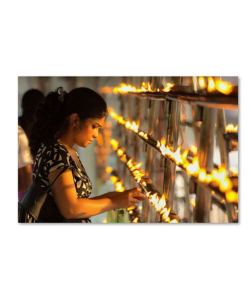 """Trademark Global Robert Harding Picture Library 'Candles' Canvas Art - 19"""" x 12"""" x 2"""""""