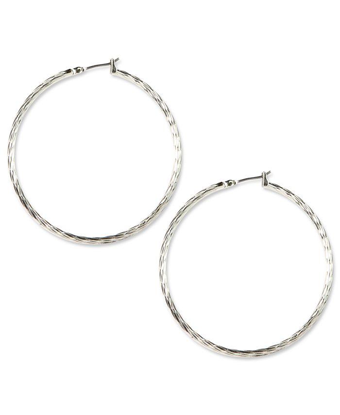 Anne Klein - Silver-Tone Large Hoop Earrings