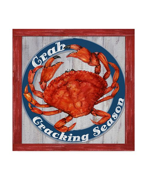 """Trademark Global Sher Sester 'Fesh Crab Sign1' Canvas Art - 18"""" x 18"""" x 2"""""""