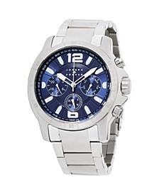 Men's Analog Silver Stainless Steel Bracelet Watch 28mm