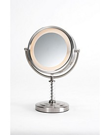 "The HL856MNC 8"" Tabletop Two-Sided Swivel Halo Lighted Vanity Mirror"