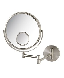 "The Jerdon JP7510N 8"" Two-Sided Wall Mount Mirror"