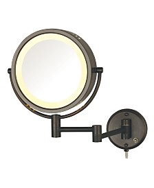 "The Jerdon HL75BZ 8.5"" Wall Mount Lighted Makeup Mirror"