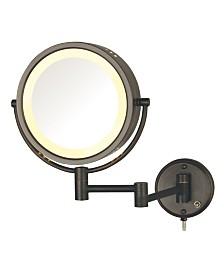 "The Jerdon HL75BZ 8.5"" Wall Mount Lighted Makeup Mirror"