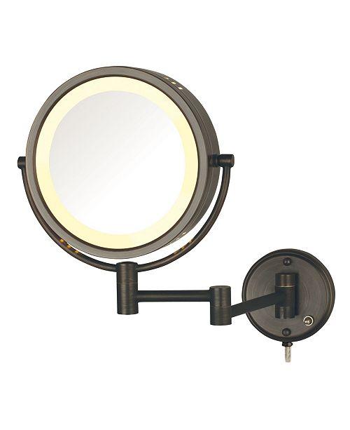"Jerdon The HL75BZ 8.5"" Wall Mount Lighted Makeup Mirror"