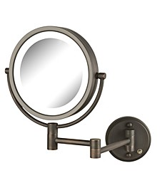 "The HL88BZL 8.5"" LED Lighted Wall Mount Makeup Mirror"